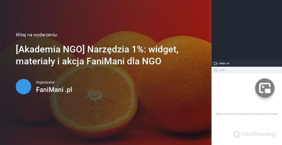 Narzędzia 1%: widget, materiały i akcja FaniMani