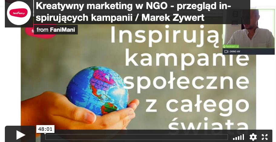 Kreatywny marketing w NGO - przegląd inspirujących kampanii (Marek Zywert)