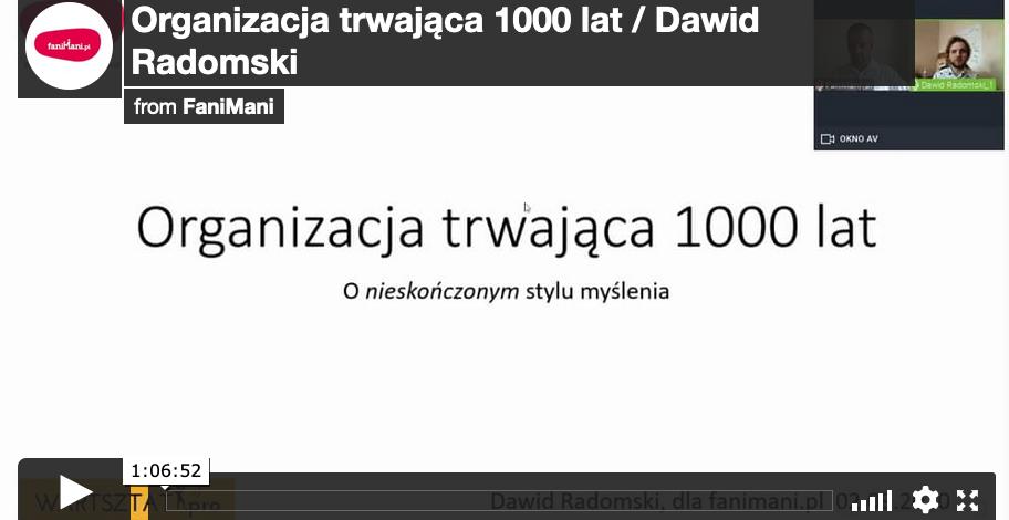 Organizacja trwająca 1000 lat (Dawid Radomski)