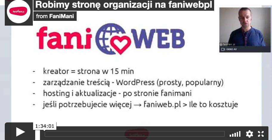 Robimy stronę organizacji na faniweb.pl