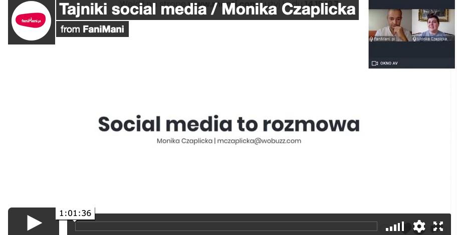 Tajniki Social Media z Moniką Czaplicką