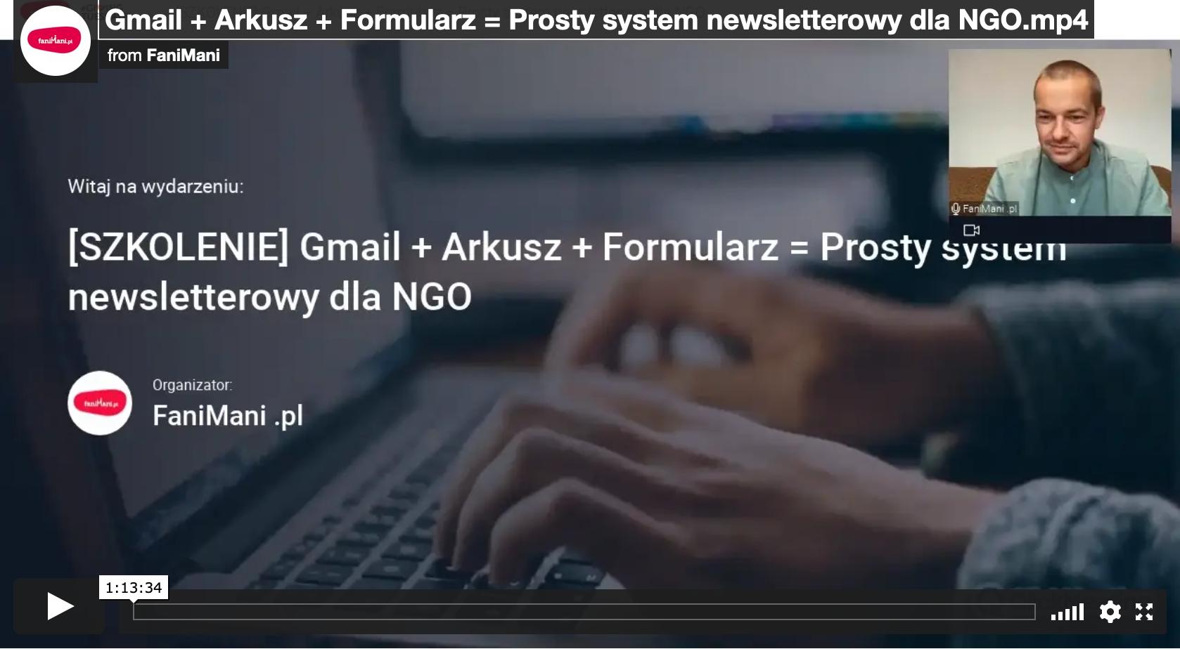 Gmail + Arkusz + Formularz = Prosty system newsletterowy dla NGO